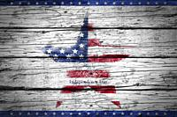 Happy Independence Day. American star on rustic wooden background.