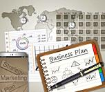 Business strategy planning as a concept.