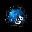 Technology abstract background, concept of global communication.