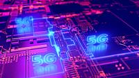 5G fifth generation cellular network technology. Broadband access 3D concept.