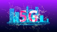5G generation fast wireless network technology. Broadband access 3D 4K UHD video loop.