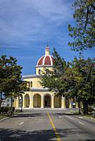 Church at the Colon Cemetery, Vedado district, Havana, Cuba.