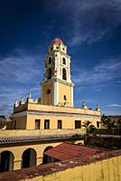 Bell tower of the Saint Francis of Assisi Convent and Church now housing National Museum of the Struggle Against Bandits, Trinidad, Cuba.