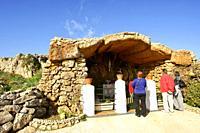 Ermita de Lourdes. Bahia de Fornells. Menorca. Illes Balears. España.