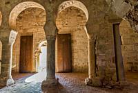 San Millan de Suso Monastery, 6th century, San MIllan de la Cogolla municipality, La Rioja, Spain, Europe, Unesco World Heritage Site.