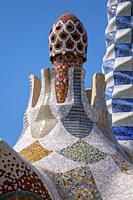 Park Guell, detail, Barcelona, Catalonia, Spain, Europe.