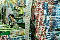 Lotteruy vendor. Siam Square. Bangkok. Thailand.