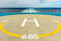 Helipad deck on the Brittany ferries mv Pont Aven.