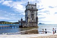 The 16th century tower at the mouth of the Tagus River.