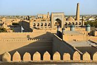 Uzbekistan, Khorezm, Khiva, Unesco World Heritage Site, Old city of Itchan Qala.