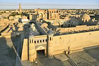 Uzbekistan, Khorezm, Unesco World Heritage Site, Khiva, Walled city of Itchan Qala.