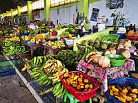 Amazonian market,Fruits and vegetables,Aucayacu village,Huanuco department,Perú,South America.