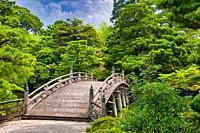 Oikeniwa Garden, Keyakibashi Bridge, Kyoto Imperial Palace, Kyoto, Japan