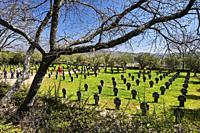 View of the German Soldiers Cemetery in Cuacos de Yuste, Extremadura (Spain)