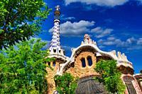 Park Güell by Antonio Gaudí. Barcelona. Catalonia. Spain.