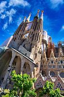 Basílica de la Sagrada Familia by Antonio Gaudí. Barcelona. Catalonia. Spain.