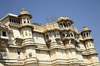 Udaipur City Palace, Udaipur, Rajasthan, India.