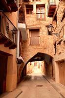 Street in Beceite. Teruel.