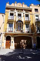 Casa Jimenez aka Casa Pagès by architect Josep Bori Gensana. City of Figueres, Girona, Catalonia, Spain, Europe.