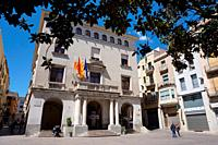 Town Hall Building. City of Figueres, Girona, Catalonia, Spain, Europe.