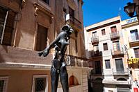 "Salvador Dali's """"Homenaje a Newton"""". City of Figueres, Girona, Catalonia, Spain, Europe."