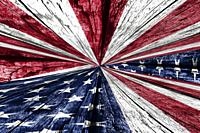 4th of July, Independence Day background with blue and red color and white stars.