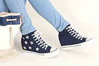 spring blue women's ankle boots.