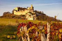 Falkenstein Castle in autumn, Austria.