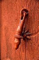 Lantch on dthe door of the Atienza house. Guadalajara.