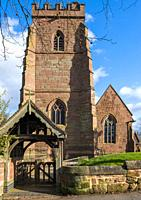 The Kinver village church of St. Peter, Kinver, Staffordshire, England.