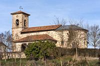 Iglesia románica de Santa Columba de Argandoña. Ã. lava. País Vasco. España.