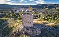 Medieval watchtower. Riba-roja d'Ebre, Tarragona, Catalonia.