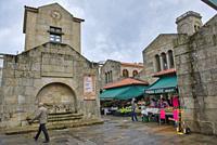 Food Market, Santiago de Compostela, Galicia, Spain.
