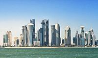 View of Doha West Bay skyline.