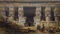 The Temple of Dendera, Upper Egypt, David Roberts, 1841,.