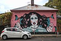 Street art in inner-city Prahran, Melbourne, Australia.
