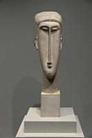 Head of a Woman, Amedeo Modigliani, 1910-1911, National Gallery of Art, Washington DC, USA, North America.