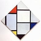 Tableau No. IV, Lozenge Composition with Red, Gray, Blue, Yellow, and Black, Piet Mondrian, 1924-1925, National Gallery of Art, Washington DC, USA, No...