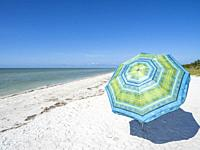 Beach in Lighthouse Beach Park on the eastern tip of Sanibel Island on the Gulf of Mexico in the United States.