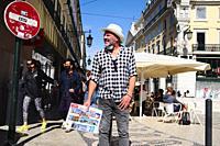 Street life in Lisbon.