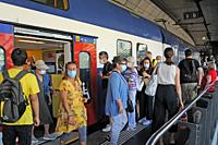 Switzerland: Face masks are mandatory now on public transport in Switzerland like here in Zürich City.