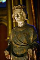 Statue of Louis IX king of France,Sainte Chapelle,Paris,France.