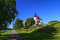 Lidkoping, Sweden The medieval Lacko Castle on the southern shore of Lake Vanern.