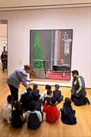Party of schoolchildren study The Piano Lesson, Henri Matisse, 1916,.