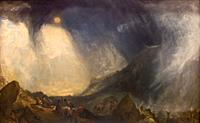 Snow Storm, Hannibal and His Army Crossing the Alps, by JMW Turner,1812,.