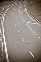 empty asphalt highway.