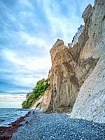 Chalk cliffs of Moens Klint, Denmark, Europe.