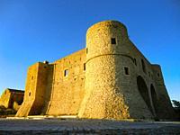Castle in Bernalda at sundown, Matera district, Basilicata, Italy.