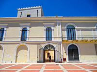 Scanzano Jonico, Piazza Gramsci, Palazzo Baronale, Basilicata, Matera Province, Italy.