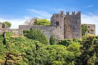 Norman castle in Erice historic town also known as the Venus Castle on a Mount Erice in the province of Trapani in Sicily, southern Italy.